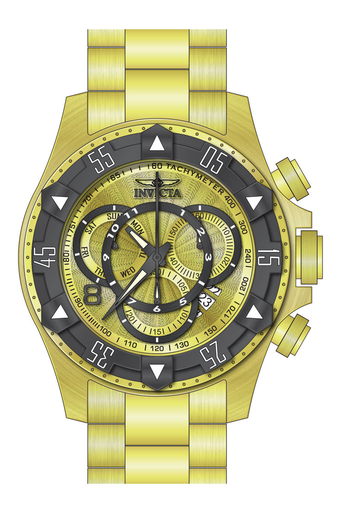 Invicta Men's 24266 Excursion Quartz Multifunction Gold Dial Watch