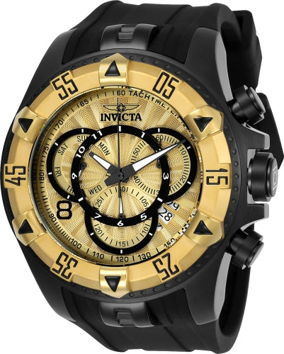 Invicta Men's 24277 Excursion Quartz Multifunction Gold Dial Watch