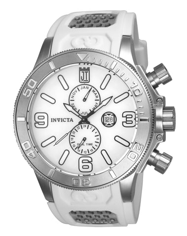 Invicta Men's 24301 Jason Taylor Quartz Multifunction White Dial Watch