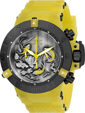 Invicta Men's 24357 Subaqua Quartz Multifunction Black, Yellow Dial Watch
