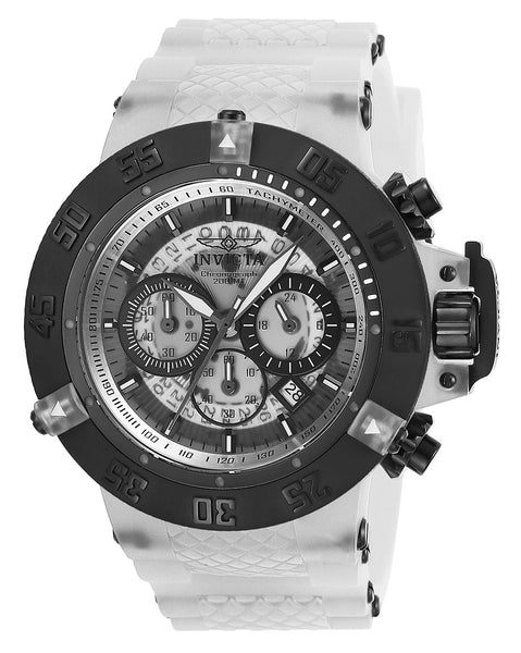 Invicta Men's 24360 Subaqua Quartz Multifunction White, Transparent Dial Watch