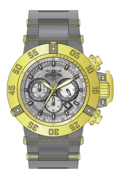 Invicta Men's 24369 Subaqua Quartz Multifunction White, Transparent Dial Watch