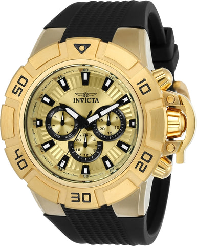 Invicta Men's 24387 I-Force Quartz Multifunction Gold Dial Watch