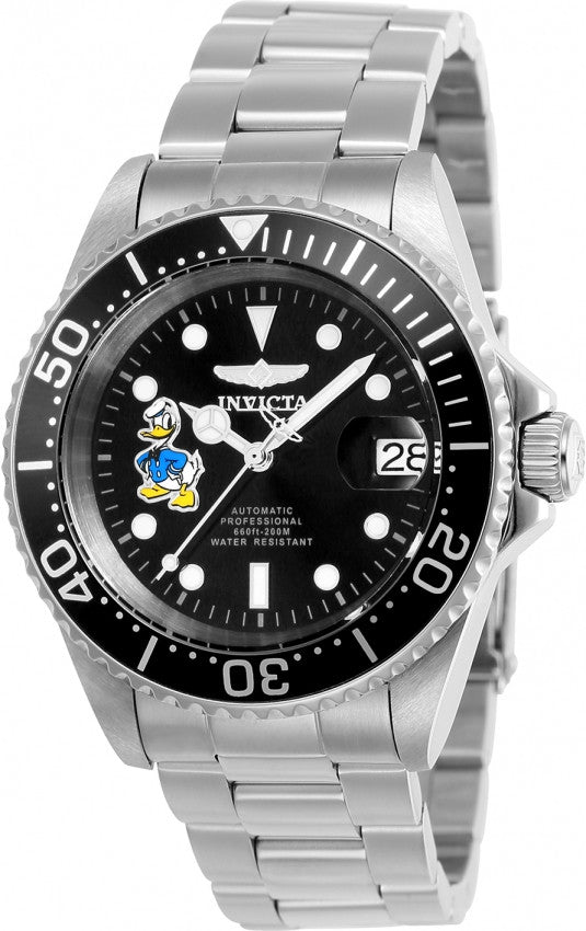 Invicta Men's 24396 Disney Automatic 3 Hand Black Dial Watch