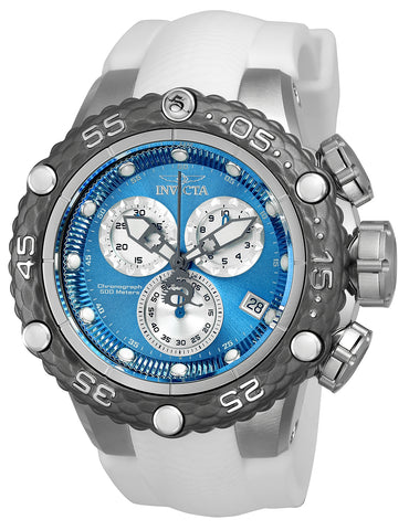 Invicta Men's 24444 Subaqua Quartz Chronograph Blue, Silver Dial Watch