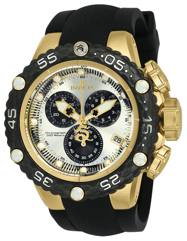 Invicta Men's 24445 Subaqua Quartz Chronograph Silver, Black Dial Watch