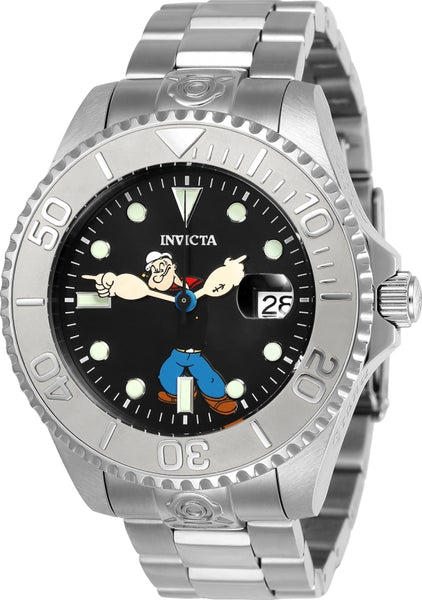 Invicta Men's 24470 Character  Automatic 3 Hand Black Dial Watch