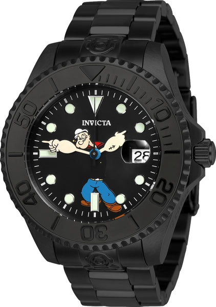 Invicta Men's 24471 Character  Automatic 3 Hand Black Dial Watch