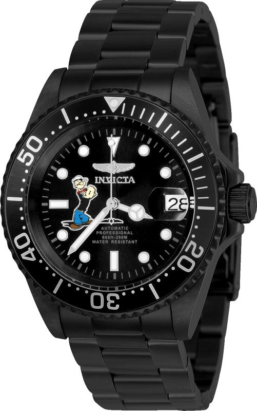 Invicta Men's 24488 Character  Automatic 3 Hand Black Dial Watch