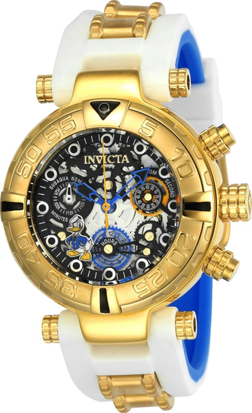 Invicta Women's 24512 Disney Quartz Multifunction Black, Gunmetal, Silver Dial Watch