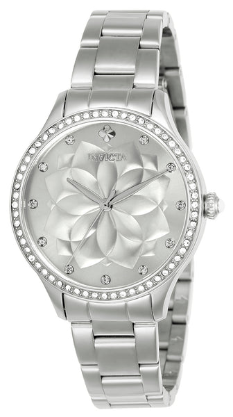 Invicta Women's 24536 Wildflower Quartz 3 Hand Silver Dial Watch
