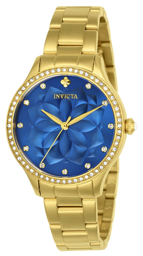 Invicta Women's 24537 Wildflower Quartz 3 Hand Blue Dial Watch
