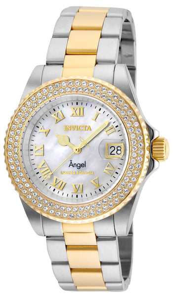 Invicta Women's 24616 Angel Quartz 3 Hand White Dial Watch