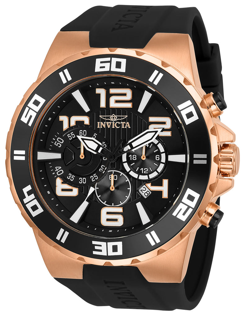 Invicta Men's 24672 Pro Diver Quartz Multifunction Black Dial Watch