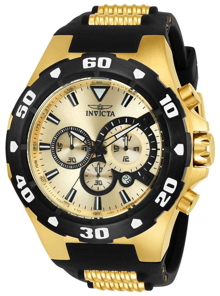 Invicta Men's 24682 Pro Diver Quartz Multifunction Gold Dial Watch