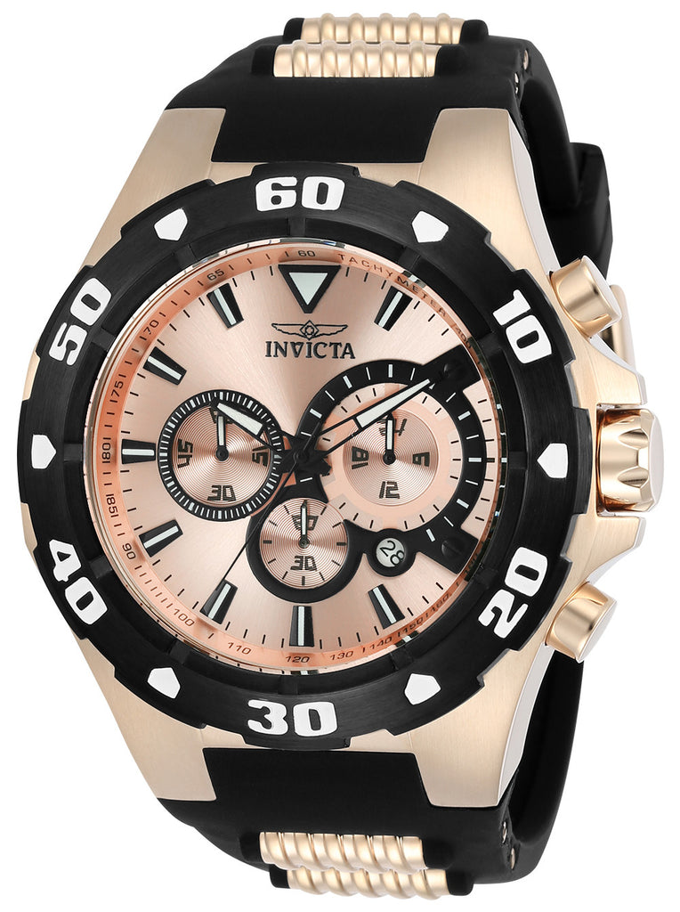 Invicta Men's 24683 Pro Diver Quartz Multifunction Rose Gold Dial Watch