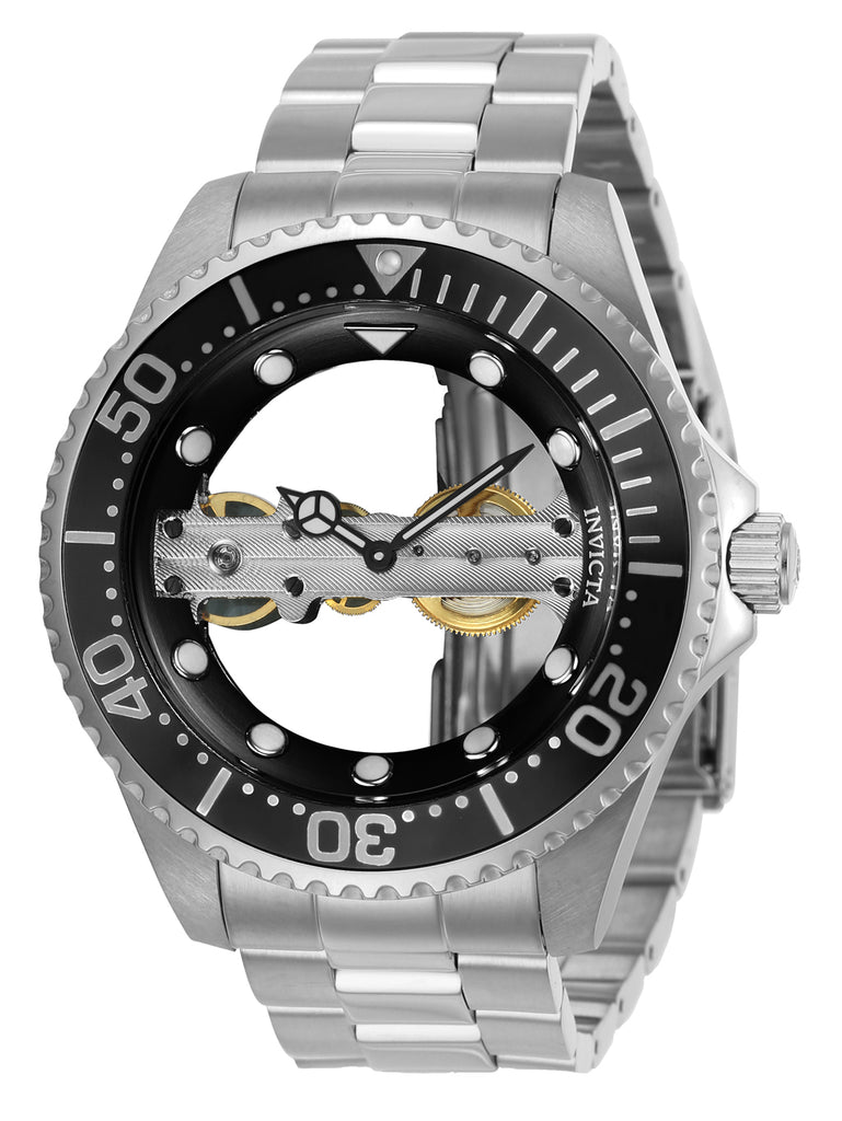 Invicta Men's 24692 Pro Diver Mechanical Multifunction Black Dial Watch