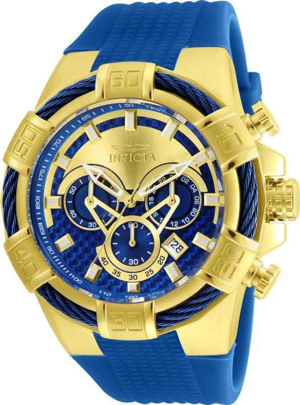 Invicta Men's 24698 Bolt Quartz Multifunction Blue, Gold Dial Watch