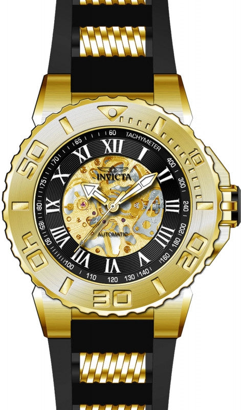 Invicta Men's 24742 Pro Diver Automatic 3 Hand Black Dial Watch