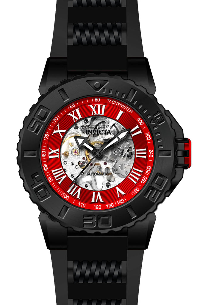 Invicta Men's 24743 Pro Diver Automatic 3 Hand Red Dial Watch