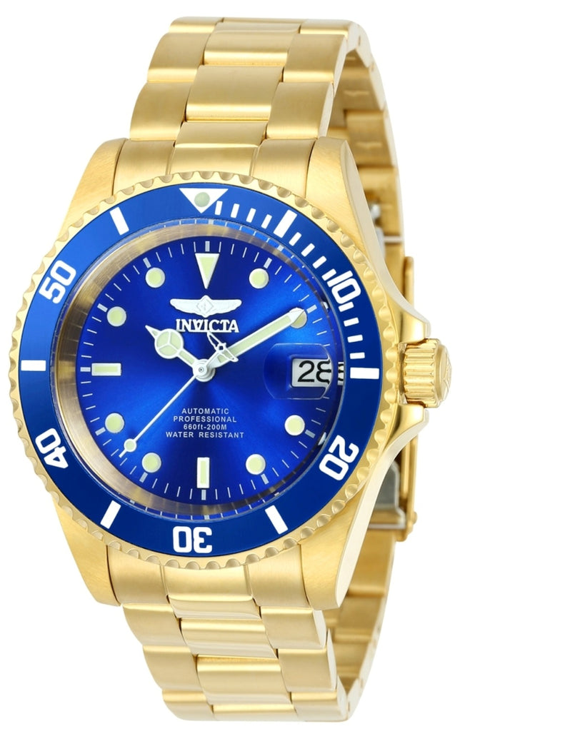 Invicta Men's 24763 Pro Diver Automatic 3 Hand Blue Dial Watch