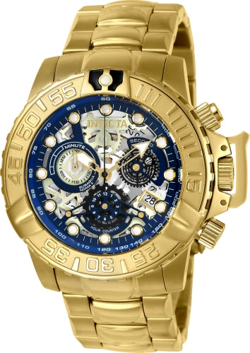 Invicta Men's 24772 Subaqua Quartz Chronograph Blue, Gold, Silver Dial Watch