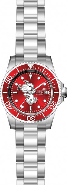 Invicta Men's 24784 Character  Automatic 3 Hand Red Dial Watch