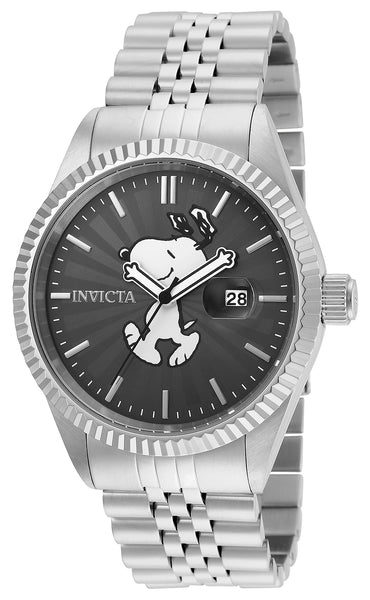 Invicta Men's 24800 Character  Quartz 3 Hand Charcoal Dial Watch