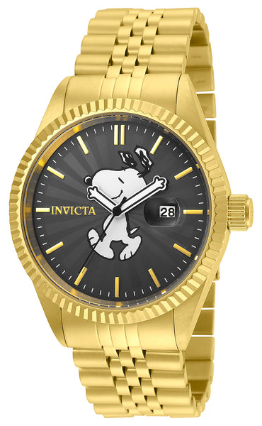 Invicta Men's 24801 Character  Quartz 3 Hand Charcoal Dial Watch