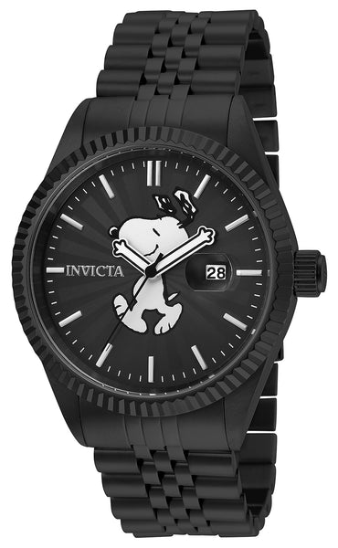 Invicta Men's 24802 Character  Quartz 3 Hand Black Dial Watch