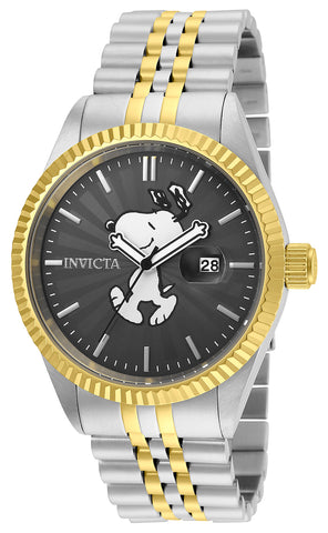 Invicta Men's 24803 Character  Quartz 3 Hand Charcoal Dial Watch