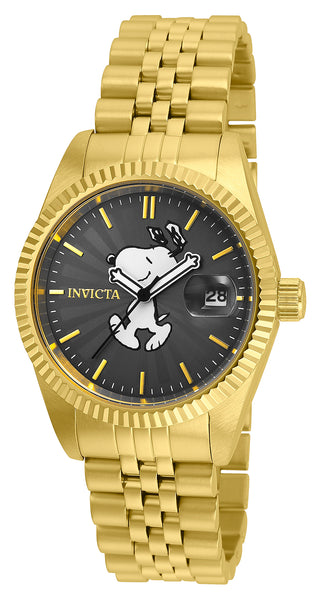 Invicta Women's 24806 Character  Quartz 3 Hand Charcoal Dial Watch