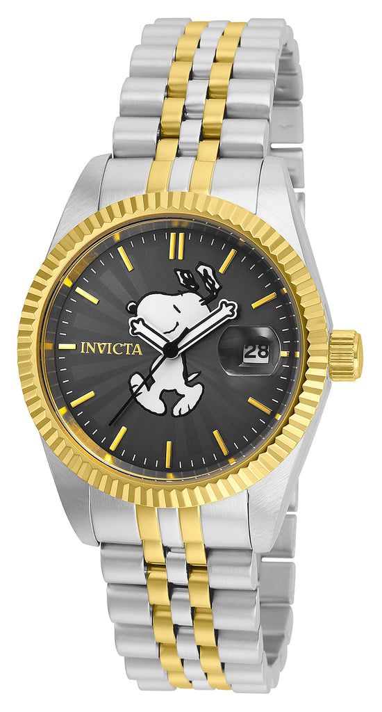 Invicta Women's 24807 Character  Quartz 3 Hand Charcoal Dial Watch