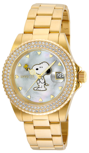 Invicta Women's 24809 Character  Quartz 3 Hand White Dial Watch