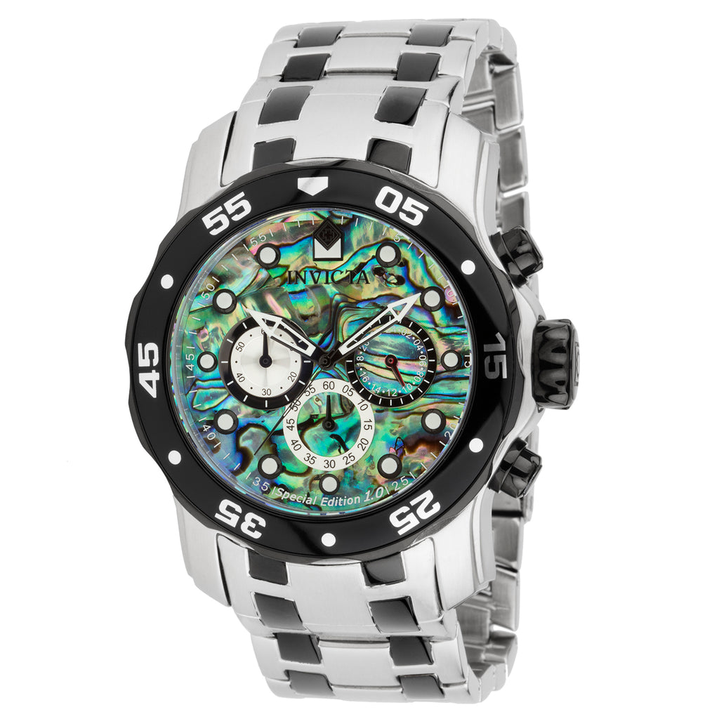 Invicta Men's 24837 Pro Diver Quartz Chronograph Rainbow Dial Watch
