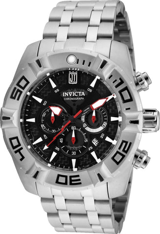 Invicta Men's 24845 Jason Taylor Quartz Multifunction Silver Dial Watch