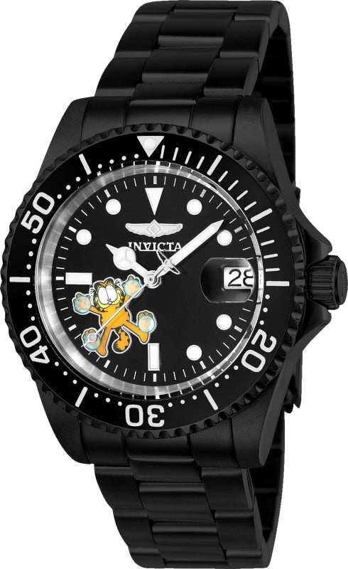 Invicta Men's 24863 Character  Automatic 3 Hand Black Dial Watch
