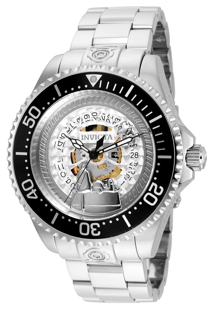 Invicta Men's 24908 Character Quartz Multifunction Silver Dial Watch