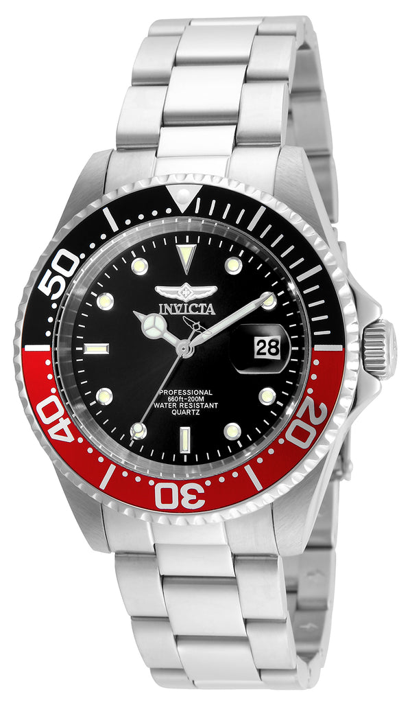 Invicta Men's 24945 Pro Diver Quartz 3 Hand Black Dial Watch