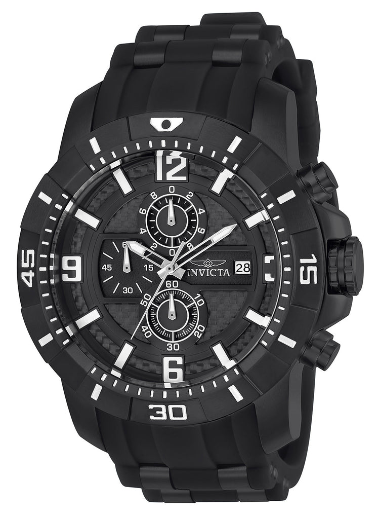 Invicta Men's 24967 Pro Diver Quartz Multifunction Black Dial Watch
