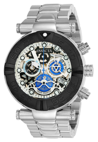 Invicta Men's 24987 Subaqua Quartz Chronograph Silver, Black, Rose Gold Dial Watch