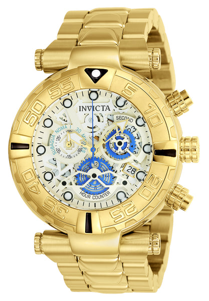 Invicta Men's 24989 Subaqua Quartz Chronograph Gold, Silver Dial Watch