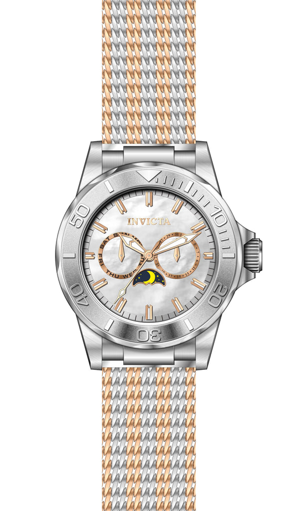 Invicta Men's 24991 Pro Diver Quartz Multifunction White Dial Watch