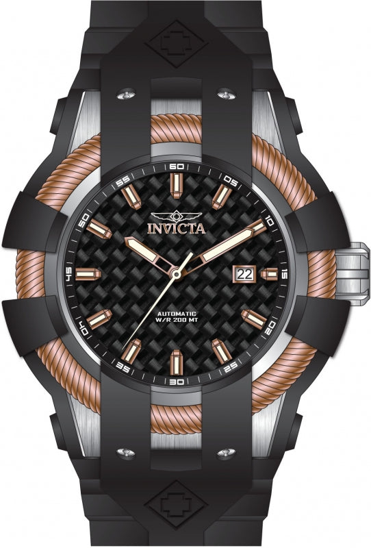 Invicta Men's 25035 Akula Automatic 3 Hand Gunmetal Dial Watch