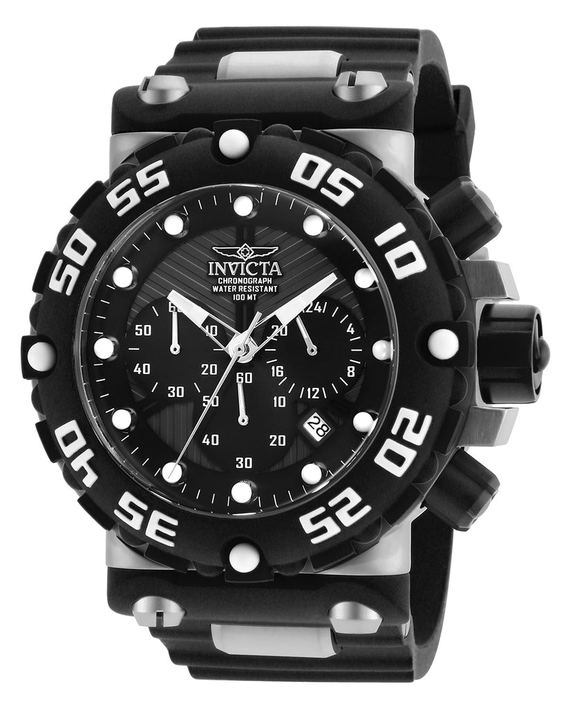 Invicta Men's 25038 Subaqua Quartz Multifunction Black, Gunmetal Dial Watch