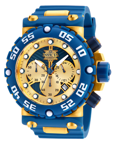 Invicta Men's 25041 Subaqua Quartz Multifunction Gold, Blue Dial Watch