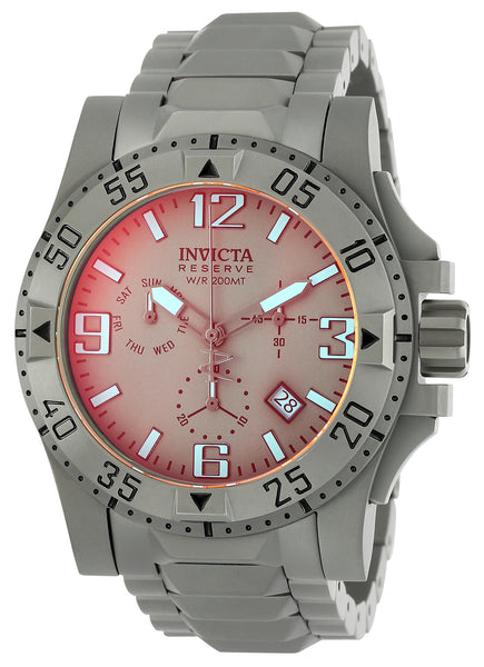 Invicta Men's 25044 Reserve Quartz 3 Hand Titanium Dial Watch