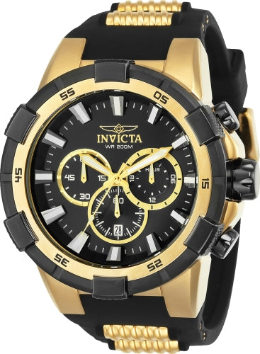 Invicta Men's 25135 Aviator Quartz Chronograph Black Dial Watch