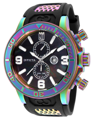 Invicta Men's 25189 Jason Taylor Quartz Multifunction Black Dial Watch