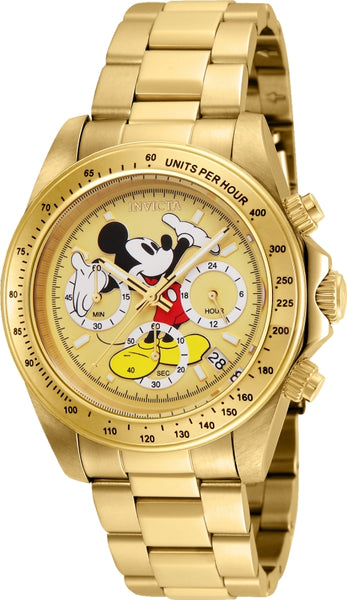 Invicta Men's 25196 Disney Quartz Chronograph Gold Dial Watch
